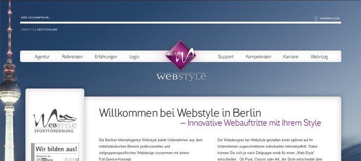 Webstyle mit neuem Internetauftritt online