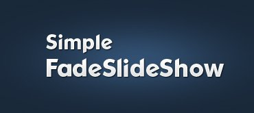 jQuery Simple FadeSlideShow