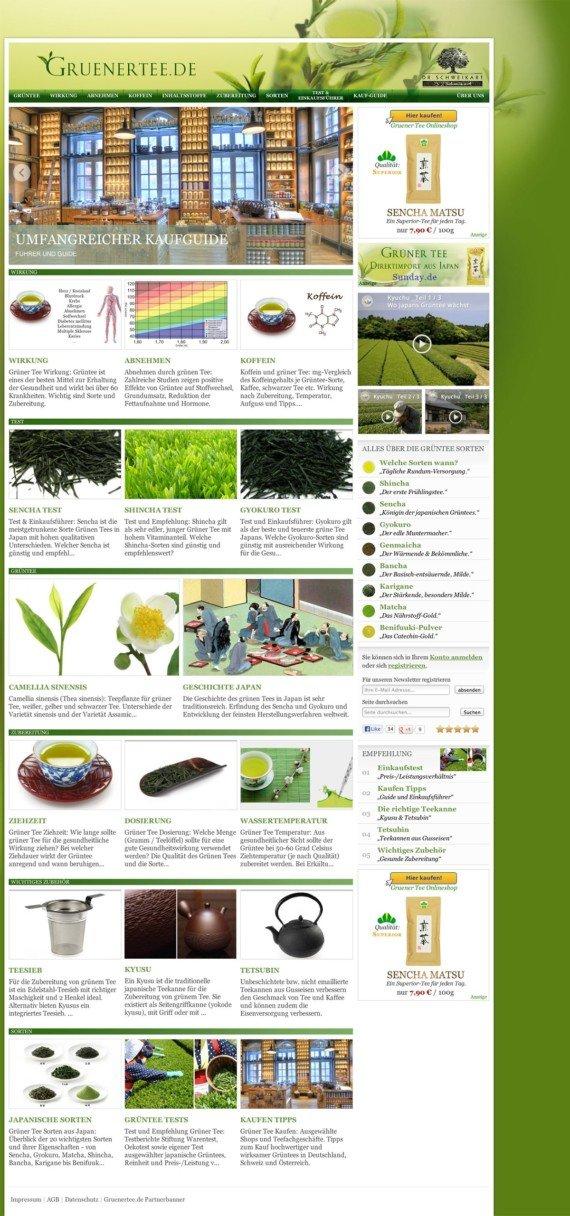 Gruenertee.de - DRSUP GmbH - Blognetzwerk System