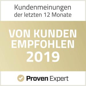 ProvenExpert - Von Kunden empfohlen