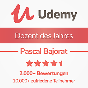 Udemy - Newcomer Dozent des Jahres 2017