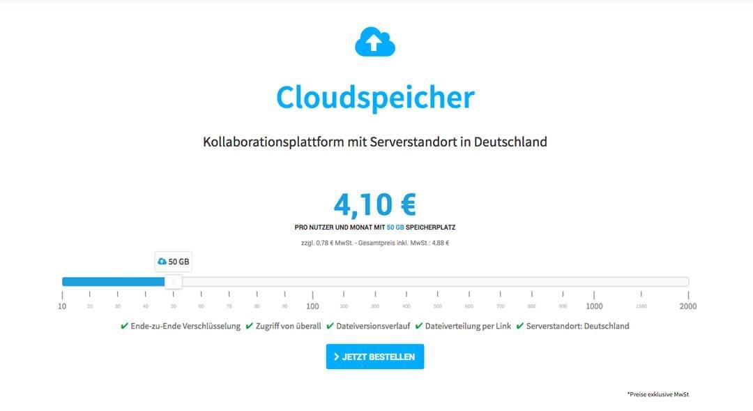 Hosting Base - Cloudspeicher